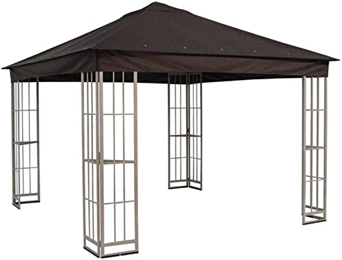 The Outdoor Patio Store Replacement Canopy for Garden Treasures 10 x10 Canopy for S-J-109DN in Dark Brown