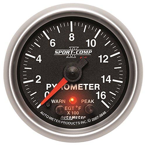 Auto Meter 3646 Sport-Comp PC Pyrometer Gauge by Auto Meter