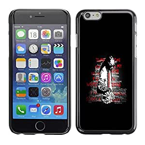 GagaDesign Phone Accessories: Hard Case Cover for Apple iPhone 6 Plus 5.5 Inch - Street Art Message by icecream design