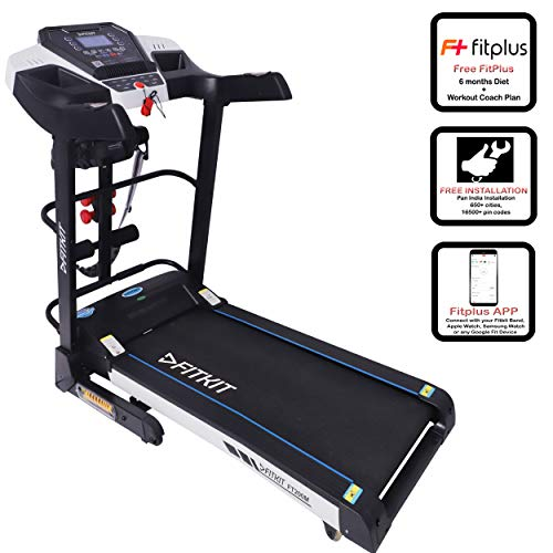 Fitkit FT200 Series Motorized Treadmill with Auto Lubrication and Auto Inclination (Free...