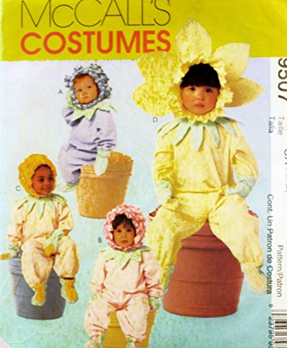 McCalls 9507 Baby Infant Toddler Flower Costume Sewing Pattern Size 2-3-4]()