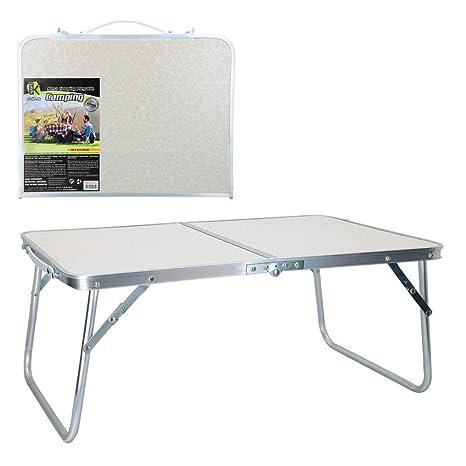 AKTIVE 52812 Mesa Plegable Camping Sport, 60 x 40 x 26 cm, Blanco
