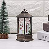 Christmas Snowman Fire Trees Lantern Decoration