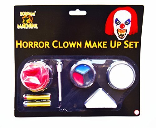 Halloween Clown Makeup Set Horror Scary Face Paint Nose FX Fancy Dress Accessory by Card and Party Store