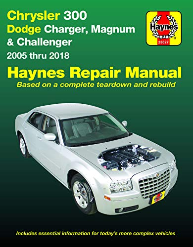 Chrysler 300 (05-18), Dodge Charger (06-18), Magnum (05-08) & Challenger (08-18) Haynes Repair Manual (Does not include diesel engine, all-wheel drive or Hellcat/Demon models.) (Haynes Automotive)