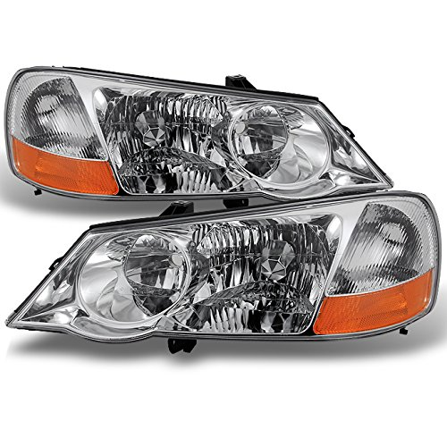 Acura TL UA5 Chrome Clear HID-D2R Xenon Type Headlights Front Lamps Repalcement Left + Right Pair supplier