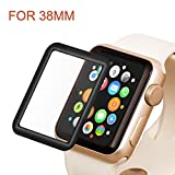 Apple Watch 38mm Full Coverage Screen Protector (Series 1, Series 2, Series 3), Atill Tempered Glass Screen Protector [Anti-scratch] [Bubble-free] for Apple iWatch