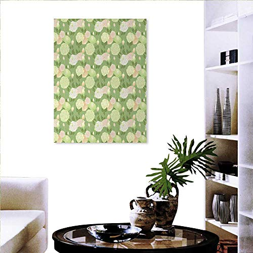 l Stickers Abstract Pastel Colored Blossoms Buds Romantic Spring Garden Landscape Wall Stickers 24