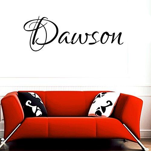 Dawson girl name boy name letters childrens room VINYL WALL ART STICKER DECAL (Dawson Accent)