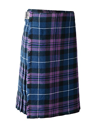 Scottish Mens Kilt Traditional Highland Dress Skirt Kilts Tartan Sporran (32, Pride of Scotland)