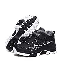 Lauwodun Kids Outdoor Snow Hiking Boots