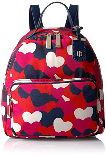 Tommy Hilfiger, Borsa a zainetto donna multicolore Bright Rose/Multi