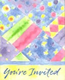 """You're Invited"" Party Invitations - 16 Cnt. - Quilted"