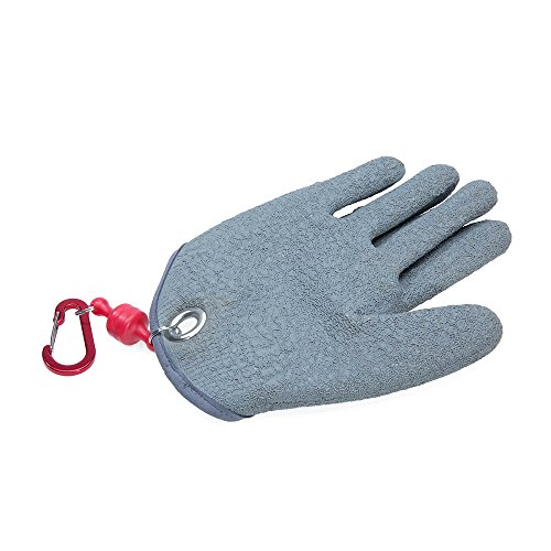 Dr.Fish Fishing Grabber Glove Magnetic Release Catching Grabber Cut Resistance Anti-slip Fishing Protective Secure process Tool Device