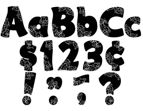 Teacher Created Resources Classy Swirls Funtastic 4-Inch Letters Combo Pack ()