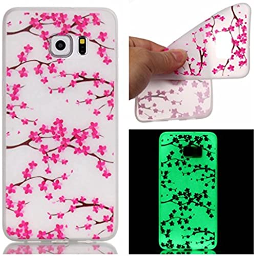 Samsung S7Edge Case,[Slim Fit][Visible Light] Colorful Patten Soft TPU Back Case for Galaxy S7 Edge-Pink wintersweet Sales