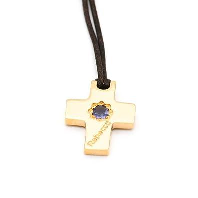 Halskette REBECCA Schmuck aus Draht Symbol Kreuz Glücksbringer und ...