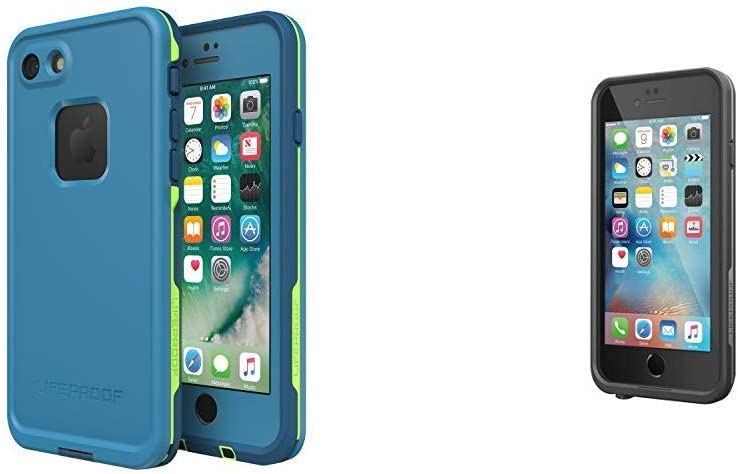 """LifeProof FRÉÌ Series Waterproof Case for iPhone 8 & 7 (ONLY) - Retail Packaging - Banzai & FRÉÌ Series iPhone 6/6s Waterproof Case (4.7"""" Version) - Black"""