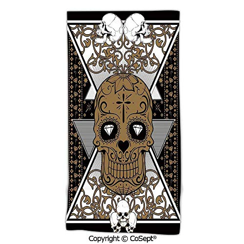 - PUTIEN Oversized,Soft Bath Towel,Wise Old and Brave Viking Warrior with his Long White Beard and Armour,Natural Ultra AbsorbentWhite and Black