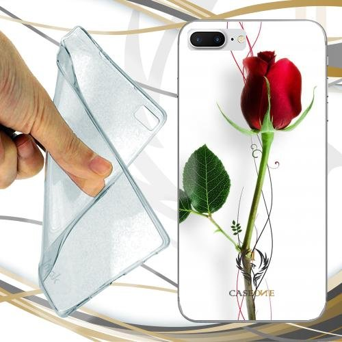 CUSTODIA COVER CASE RED ROSE PER IPHONE 7 PLUS