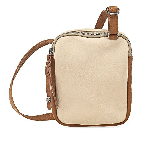 Tamaris KAREN Damen Handtasche, Umhängetasche, Bicolour, 3 Farben: nude beige, light blue oder rot nude comb