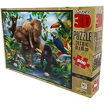 Haward Robinson Super 3d Puzzle 500 Piece -Junior Jungle
