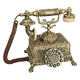 Design Toscano Antique Grand Emperor 1933 Rotary Corded Retro Phone - Vintage Decorative Telephones, Bronze