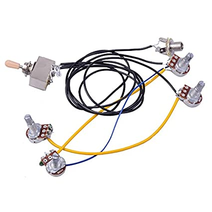 amazon com 1 set wiring harness prewired 2v2t 3 way toggle gibson es 345 gibson wiring jack #13