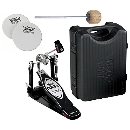 TAMA HP900PN Iron Cobra 900 Series Power Glide Single Bass Drum Pedal w/ Case, Impact Patches, and Extra Wood - Beater Cobra Iron