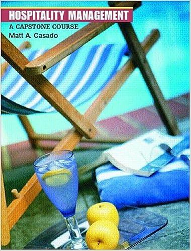 Book Hospitality Management: A Capstone Course