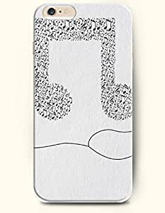 SevenArc Phone Case for iPhone 6 Plus 5.5 Inches with the Design of Simple Music Note
