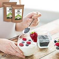 Semillas de chía orgánicas crudas - Proteína vegetal vegana para ...