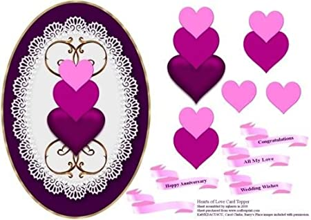 Diseño de corazones of Love Tarjeta de para pastel de Mary Jane ...