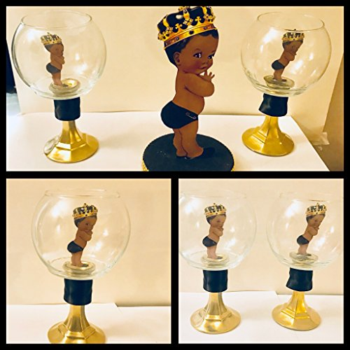 Little Prince Centerpiece, Royal Prince Baby Shower Centerpiece BLACK AND GOLD ()