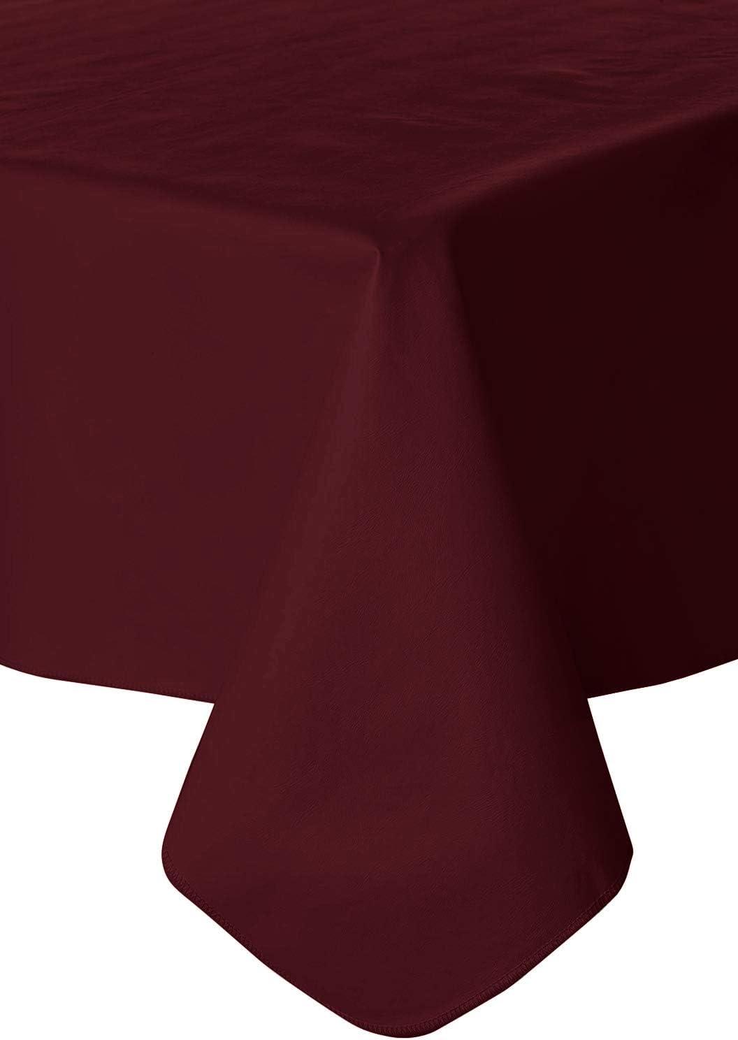 Galaxy Heavyweight Vinyl Tablecloth, 52X70 Oblong (Rectangle), Burgundy