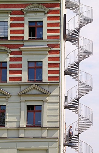 Home Comforts Peel N Stick Poster Of Architecture Fire Escape Spiral Staircase  Stairs Poster