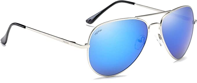 87f5cdaef015 Image Unavailable. Image not available for. Colour  Rapstar Aviator Silver  Frame Plastic Unisex Sunglass (Az-82