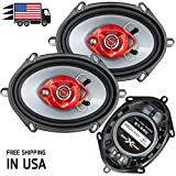 Pair of Soundxtreme 5x7 / 6x8 in 3-Way 350 Watts Coaxial Car Speakers