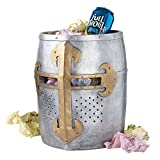 Design Toscano Crusader's Great Helm Gothic Trash Bin