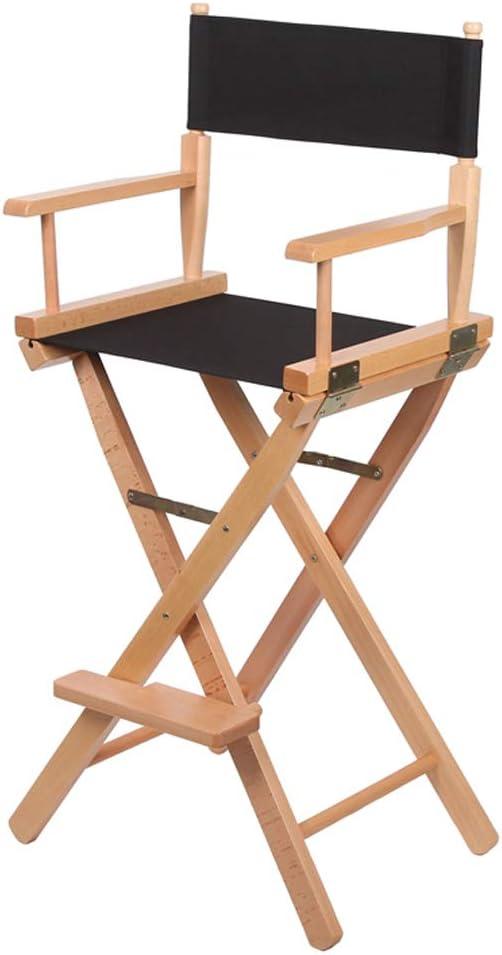 Silla del director, silla plegable portátil de madera de