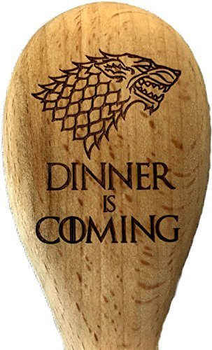 Derwent Laser Craft Game of Thrones Inspired House Stark Dinner is coming cucchiaio di legno 5055582596057