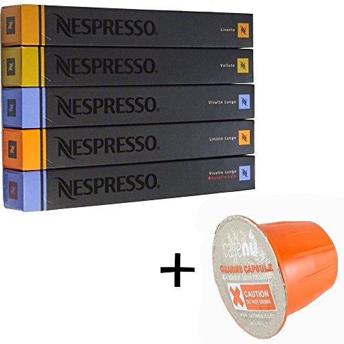 (유익 세트/세제 샘플1 개부착) NESPRESSO 네스프레소 캡슐 커피 마일드 타입5종x10캡슐 합계50캡슐