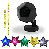 Sleep Soother Aurora Projection LED Night Light Lamp with 5 Lighting Mode , Mood Light for Baby Nursery Bedroom Living Room ,Relaxing Light Show for Baby Kids and Adults,(Black)