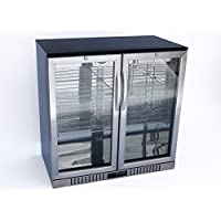 New 36 Wide 2-door Stainless Steel Back Bar Beverage Cooler