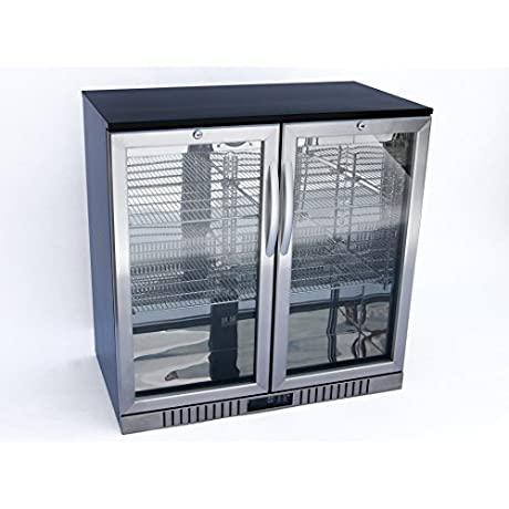 New 36 Wide 2 Door Stainless Steel Back Bar Beverage Cooler
