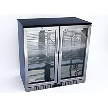 Amazon Com 36 Quot Wide 2 Door Back Bar Beverage Cooler