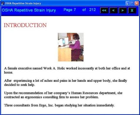 OSHA Repetitive Strain Injury
