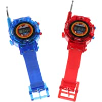 HOMYL 2 Pcs Watch Wrist 2-Ways Radio Walkie Talkies Kids Outdoor Interphone Game Family Talk Electronic Toy