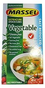 Massel Gluten-Free, Salt Reduced Ultracube Bouillon Cubes, Vegetable, 3.5-Ounce (Pack of 12)