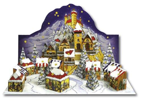 Adventskalender Weihnachtsmarkt: 3D-Bastelkalender zum Selbstbefüllen
